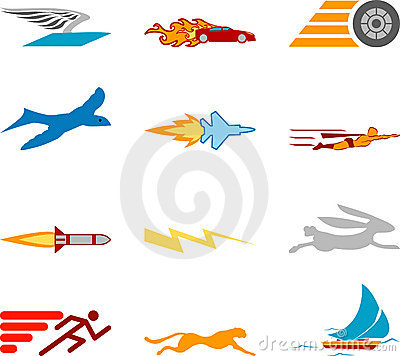 Free Speed Icon Set Series Design Elements Royalty Free Stock Images - 2008179