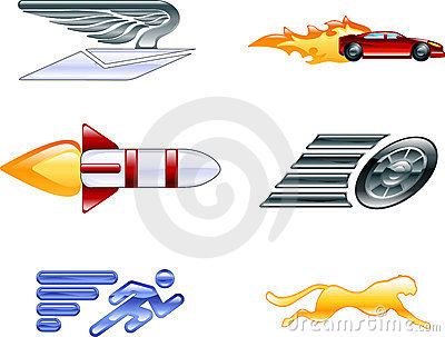 Speed Icon Set Series Design Elements