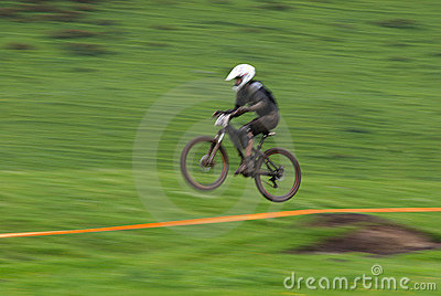 Speed jump motion biker