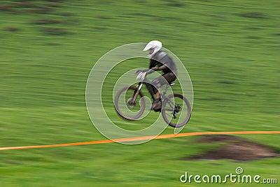 Speed jump motion biker