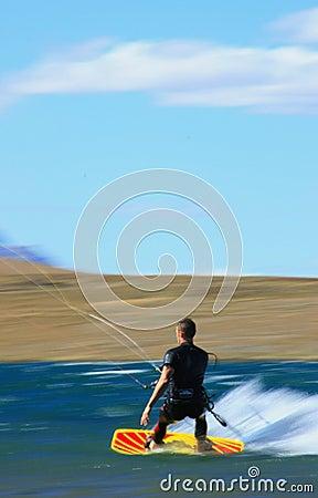 Free Speed Kiter In Motion Stock Photo - 2443360