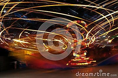 Speed light in Luna park