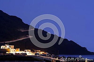 Speed light tracks in Almeria