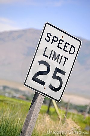 Free Speed Limit Royalty Free Stock Images - 5501279