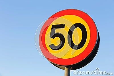 Speed limit 50 km / h