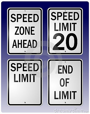 Free Speed Limit Signs Stock Photography - 1071122