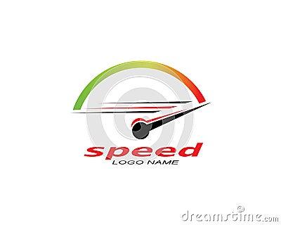 speed logo icon design illustration vector Vector Illustration