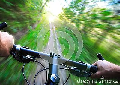 Speed on Mountain bike