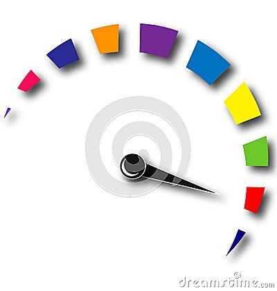 Free Speed Odometer Colorful Logo Stock Photo - 25409550
