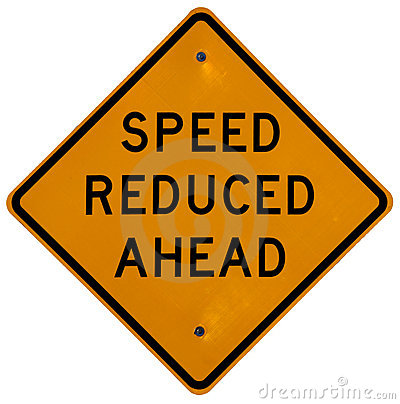 Free Speed Reduced Ahead Stock Photo - 1685480