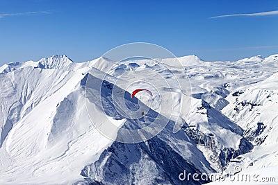 Speed riding in Caucasus Mountains