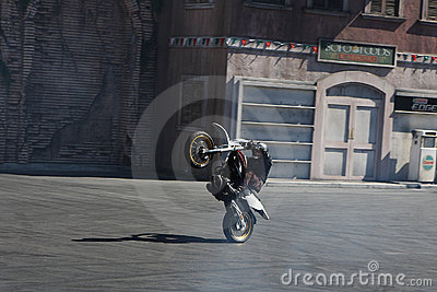 Speed stunt performance Editorial Stock Photo