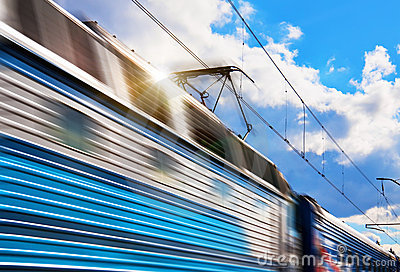Speed train with motion blur