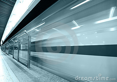 Speed train subway