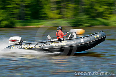 Speedboat in Action Editorial Photo