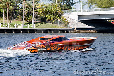 Speedboat in fort lauderdale florida Editorial Photo