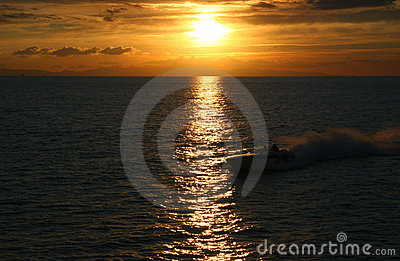 Speedboat Sunset