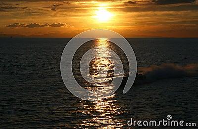 Speedboat Sunset
