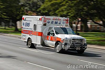 Speeding ambulance