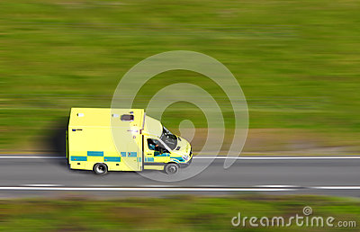 Speeding ambulance
