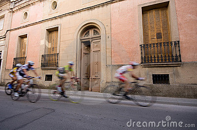 Speeding bicycle racers