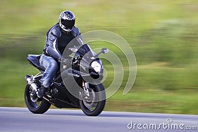 Speeding Biker