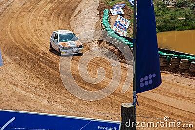 Speeding car Editorial Photo