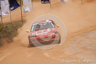 Speeding car Editorial Image