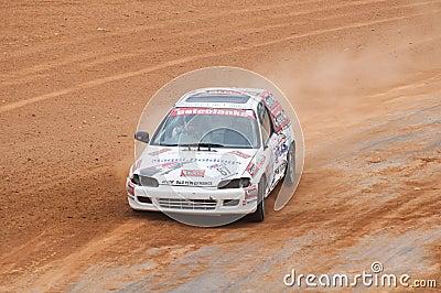 Speeding car Editorial Photography