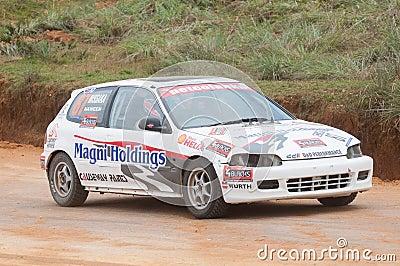Speeding car Editorial Stock Photo