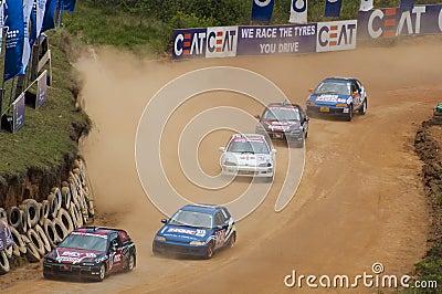 Speeding cars Editorial Photo