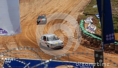 Speeding cars Editorial Stock Image