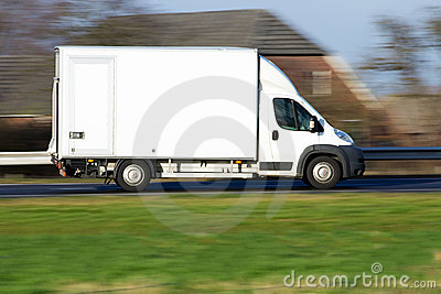 Speeding delivery van