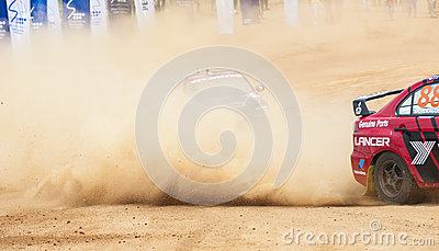 Speeding dust Editorial Stock Photo