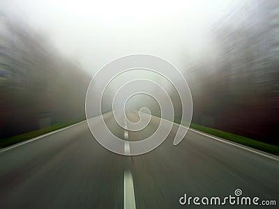 Speeding in the fog
