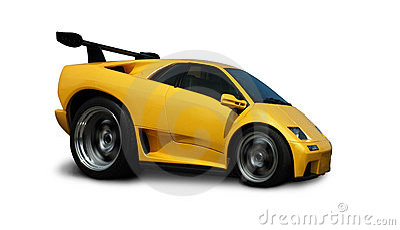 Speeding Lamborghini Diablo