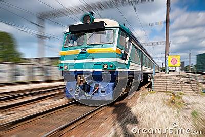 Speeding passenger train