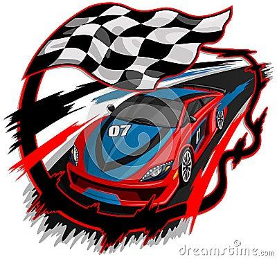 Speeding Racing Car Design