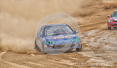Speeding racing car in srilanka Editorial Photography