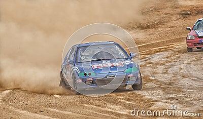 Speeding racing car in srilanka Editorial Photography
