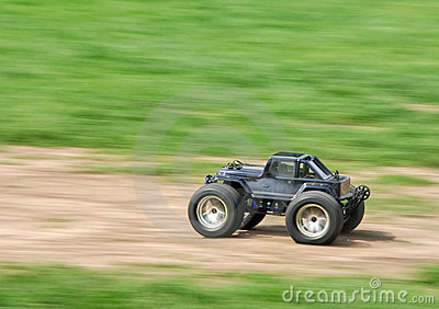 Speeding RC car