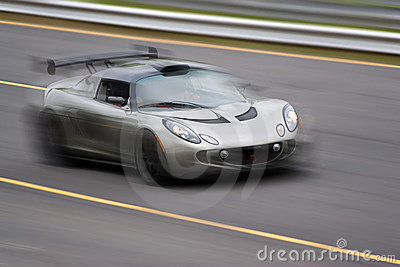 Speeding Sports Car