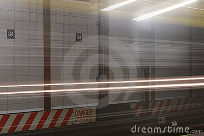 Speeding Subway Car