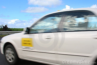 Speeding Taxi blur movement