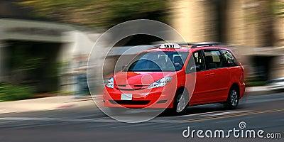Speeding taxicab