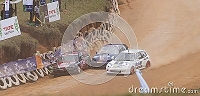 Speeding three cars Editorial Stock Image