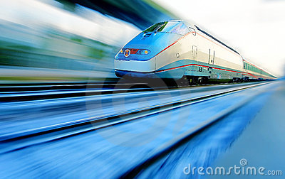 Speeding train