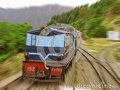 speeding train railroad blurs