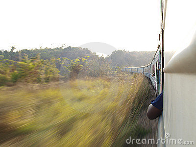 Speeding train in Tanzania