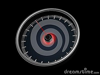 Speedometer on dark background